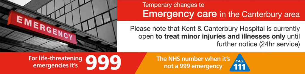 Temporary changes to emergency care in the Canterbury Area