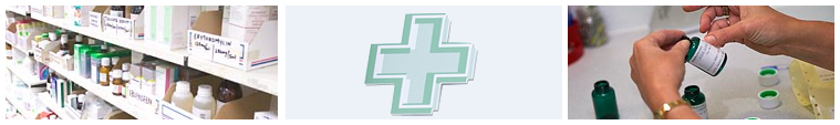 Images of pharmacy services across the Trust
