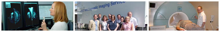 Images of some of the Radiological Sciences services across East Kent Hospitals. Including breast screening xrays, PET/CT scanning and MRI scanning