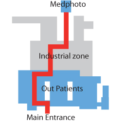 Image of Map of how to find MedPhoto
