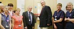 Julian Brazier MP (centre), with Chris Bown, Interim Chief Executive (left) and Sally Smith, Acting Chief Nurse and Director of Quality (right) open our new outpatients centre at Estuary View Medical Centre, Whistable.