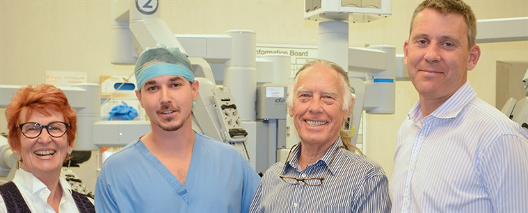 Colin Parris, a prostate cancer patient makes a generous personal donation to help increase capacity for robotic surgery at Kent and Canterbury Hospital