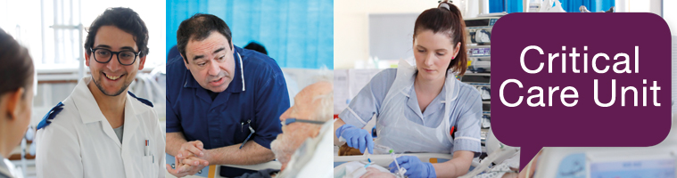 Critical care web page header
